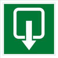 Emergency escape and fire equipment signs, emergency exit
