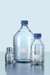 Laboratory bottles, narrow neck, with screw cap