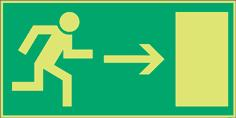 Emergency escape and fire equipment signs