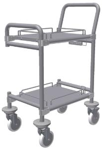 Particle counter transport cart